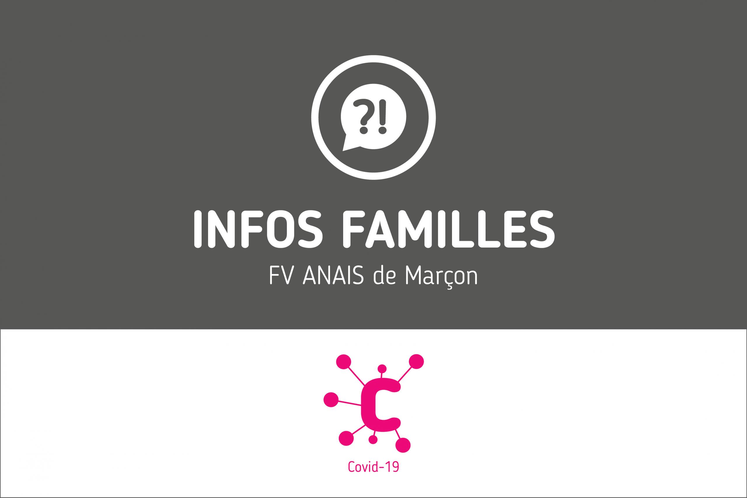 Protégé: Infos Familles – FV ANAIS de Marçon