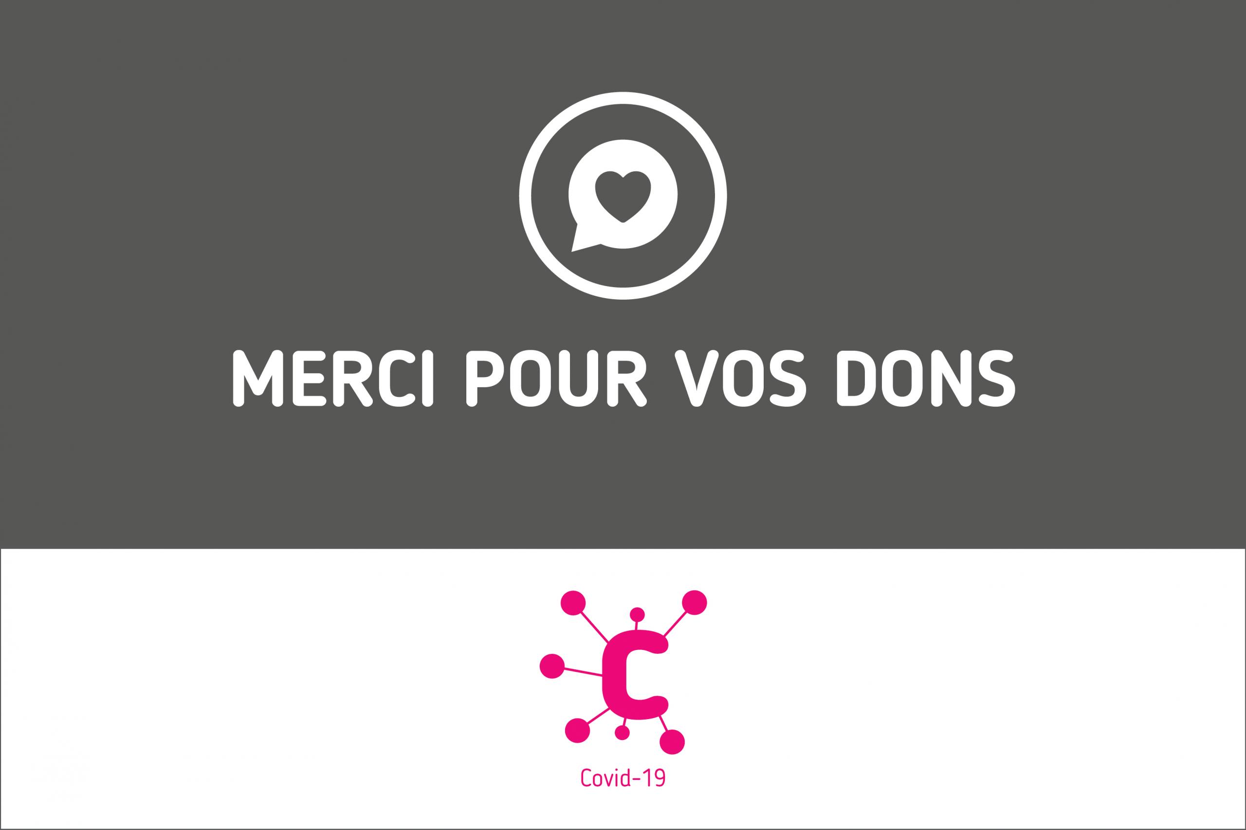 CORONAVIRUS : MERCI pour vos dons